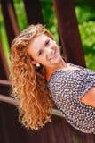 Pretty Teenage Girl Long Blonde Hair Royalty Free Stock Image