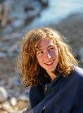 Pretty teenage girl outdoors Stock Photos
