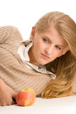 Pretty teenage girl resting stock images