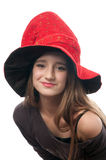 Pretty teenage girl in witches costume Stock Photography