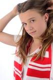 Pretty teenage soccer fan Stock Image