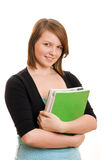Pretty teenage student holding books Royalty Free Stock Images