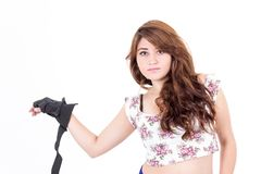 Pretty teenager with attitude Royalty Free Stock Images