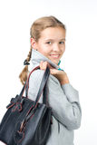 Pretty teenager with a bag. Beautiful girl with a bag Stock Image