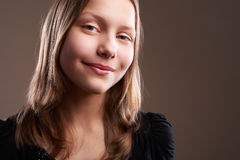 Pretty teenager girl, close-up Stock Image