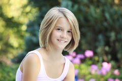 Pretty teenager girl Stock Photography