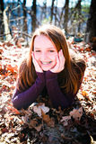 Pretty Teenager Radiant with Happiness Royalty Free Stock Images