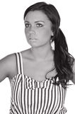 Pretty Teenager in Striped Dress Royalty Free Stock Photo