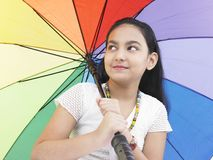 Pretty teenager with an umbrella Stock Image