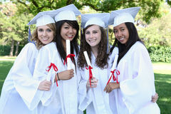 Pretty Teens at Graduation Stock Photography