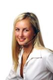 Pretty telephone receptionist Royalty Free Stock Photography