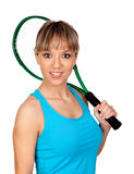 Pretty tennis player Royalty Free Stock Photography