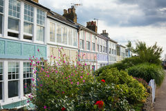 Pretty Terrace Houses. Pretty, colorful terrace houses in a row in Whitstable, kent royalty free stock photos