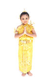 Pretty Thai girl wearing typical Thai dress Royalty Free Stock Photo