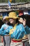 Pretty Tibetan Women dancing Royalty Free Stock Photo