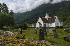 Pretty timber church in Olden Norway Royalty Free Stock Images