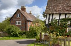 Pretty timber-framed English cottages Stock Images
