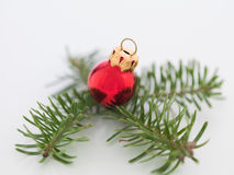 Pretty tiny red christmas globe Stock Photos