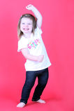 Pretty Toddler Girl Dancing royalty free stock photo