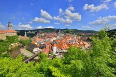 Pretty town chesky krumlov Royalty Free Stock Image