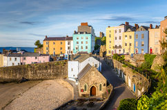 Pretty Town Houses alongside a Harbour Royalty Free Stock Image