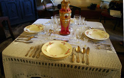 Pretty traditional table . Royalty Free Stock Image