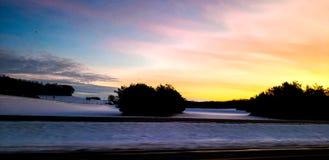 Pretty travel sunset stock photos