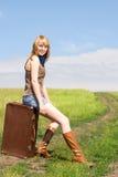 Pretty traveler outdoor Stock Photo