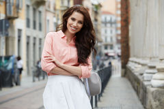 Free Pretty Trendy Girl Posing At The City In Europe, Royalty Free Stock Image - 72481806