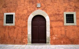Pretty Tuscan Door Stock Photography