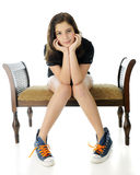 Pretty Tween, Awkward Pose Stock Image