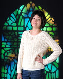 Pretty Tween in Church Royalty Free Stock Image