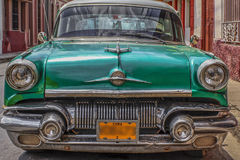 Pretty typical car cuba immaculately maintained Royalty Free Stock Images