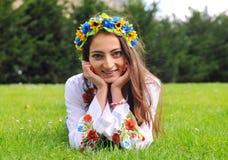 Pretty ukrainian girl closeup portrait Stock Photography