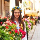 Pretty ukrainian girl closeup portrait Royalty Free Stock Photos