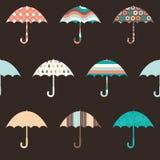 Pretty Umbrellas Seamless Pattern. Pretty Umbrellas Cute Colorful Childish Seamless Pattern Royalty Free Stock Photography