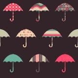 Pretty Umbrellas Seamless Pattern. Pretty Umbrellas Cute Colorful Childish Seamless Pattern Stock Images