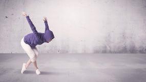 Pretty urban dancer with empty background Stock Image