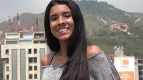 Pretty Urban Teen Girl Smiling stock video footage