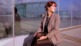Pretty urban woman. Pretty woman in an urban setting stock video footage