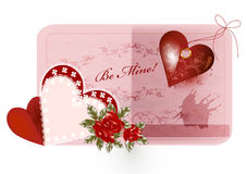 Pretty valentine card Royalty Free Stock Photos