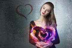 Pretty valentine girl Stock Photo