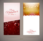 Pretty Valentines day invitation cards with hearts Royalty Free Stock Image
