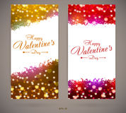 Pretty Valentines day invitation cards Stock Photos
