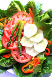 Pretty veggie salad plate Stock Photo