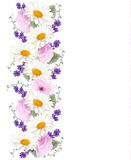 Pretty vertical flower banner. Royalty Free Stock Photos