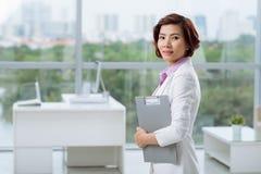 Pretty Vietnamese business lady Stock Photography