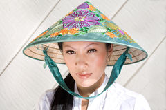 Pretty vietnamese woman Stock Photo