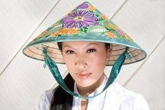 Pretty vietnamese woman stock photo