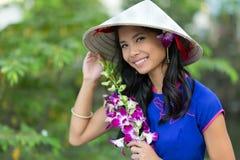 Pretty Vietnamese woman Royalty Free Stock Image